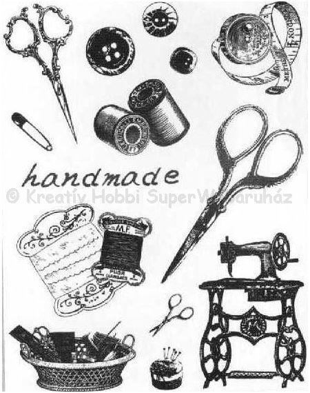 Szilikon pecsételő - handmade, varrás