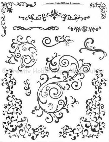 Szilikon pecsételő - inda minták