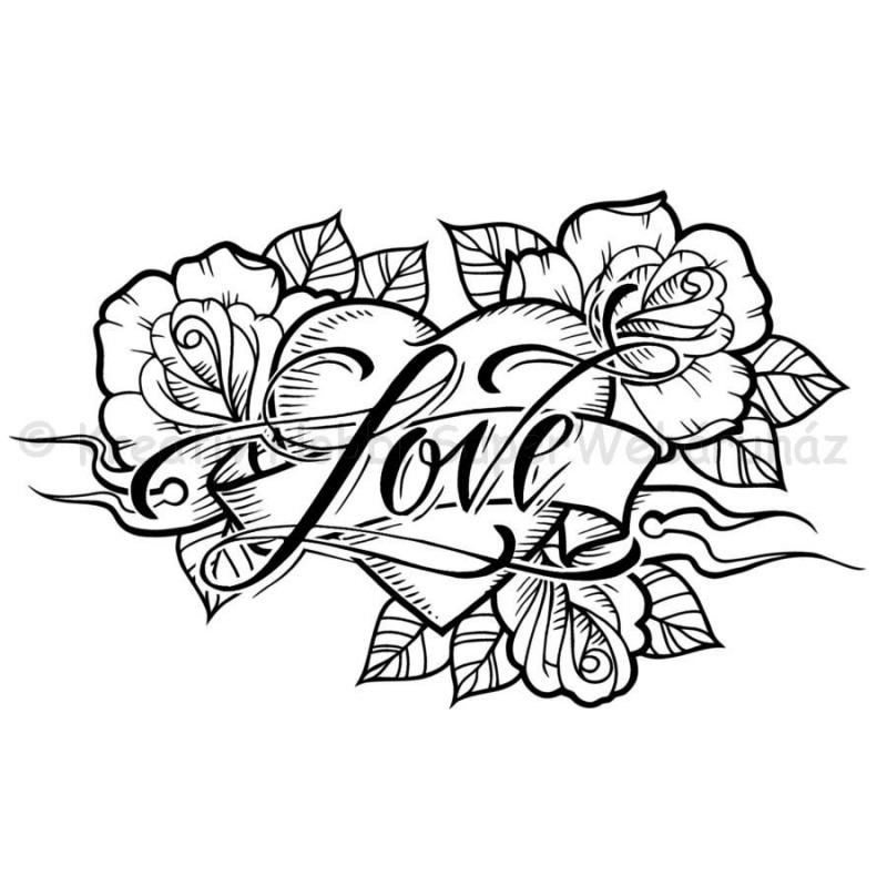 Szilikon pecsételő - Love