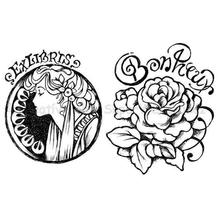Szilikon pecsételő - Mucha és rózsa