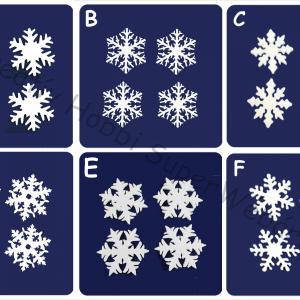 Hungarocell (polisztirol) hópehely  5 cm, 16 db/cs