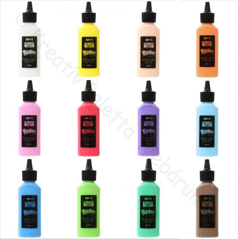 Üvegmatrica festék 22 ml - POP ART többféle telt színben