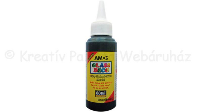 Üvegmatrica festék kontúr 60 ml - fekete