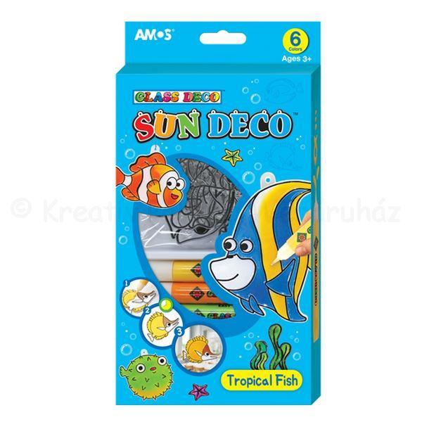 Üvegmatrica festék szett 6 x 10,5 ml + 6 db fényvarázs - halak