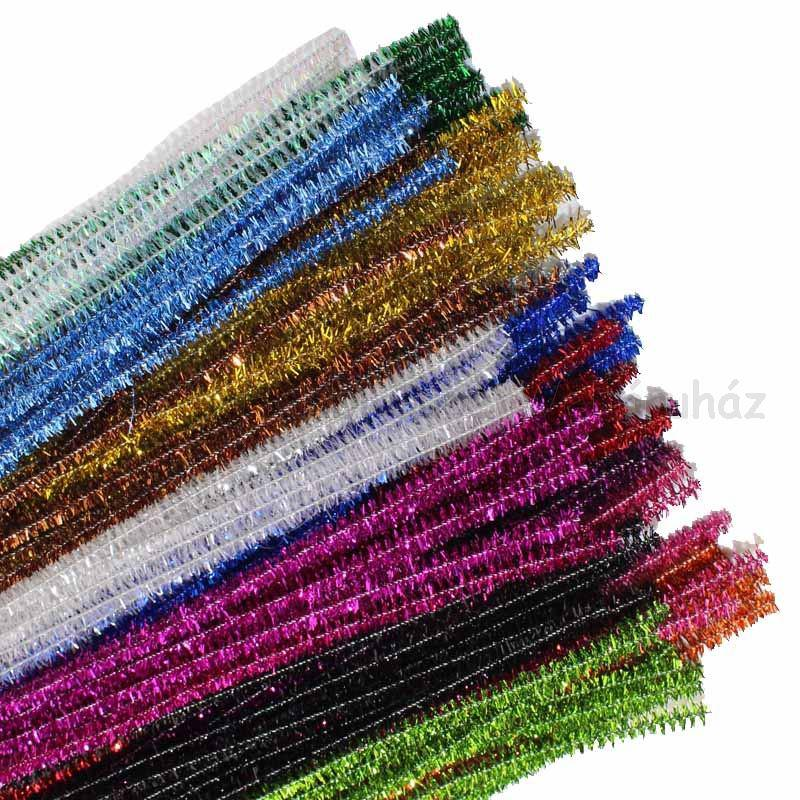 Zseníliadrót 6 mm Ø,  30 cm metál színek