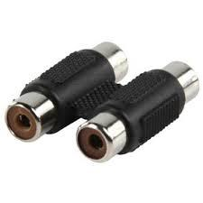 2RCA - 2RCA hüvely adapter