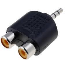 3.5-es JACK-2RCA alj adapter STEREO