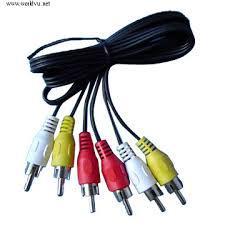 3RCA dugó -3RCA dugó kábel, 2m