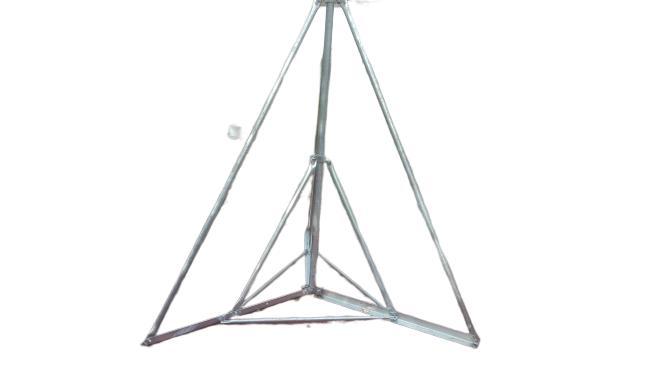 Antenna-árboc tartó lapos tetőre betongarnitúra 3m 5/4 XXL