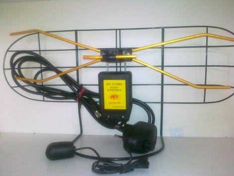 DVB-T  Digitális szoba antenna erősítős kültéri  VHF/UHF (ANT0043J) JET TURBO