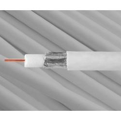 Koax kábel fehér RG-6 vas belső ér