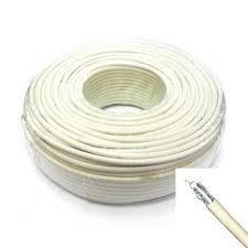 Koax kábel fehér RG-6 vas belső ér Digiline