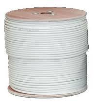 Koax kábel RG-6 fehér 3x árnyékolt Union T-home
