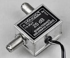 Könczöl 25dB szélessávú szab.antennaerösítő