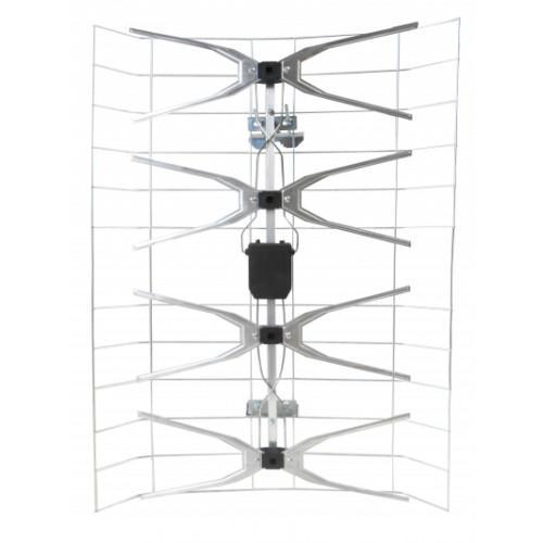 Nagylepke UHF szélessávú erősítős Mindig TV  antenna(JET TURBO 50/90)