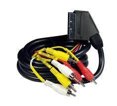 SCART-6RCA kábel,1m