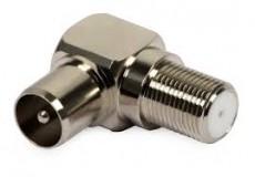 Koax TV dugó-F aljzat, szögletes pipa fém