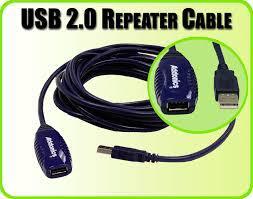 USB 2.0 repeater aktív kábel 5m (sorba köthető)