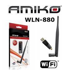 USB wifi adapter Amiko WLN-880 5dBi levehető külső antenna