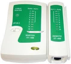 UTP kábelteszter-telefonkábel teszter RJ45-RJ11