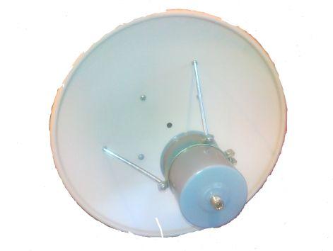 WIFI antenna 45cm-es primer parabola 2,4GHz fejjel