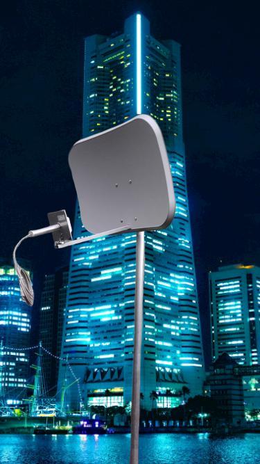 Wifi antenna 60cm Parabola 2,4GHz 9dBi fejjel(22dBi)+3m wifi koax RP/sma dugó