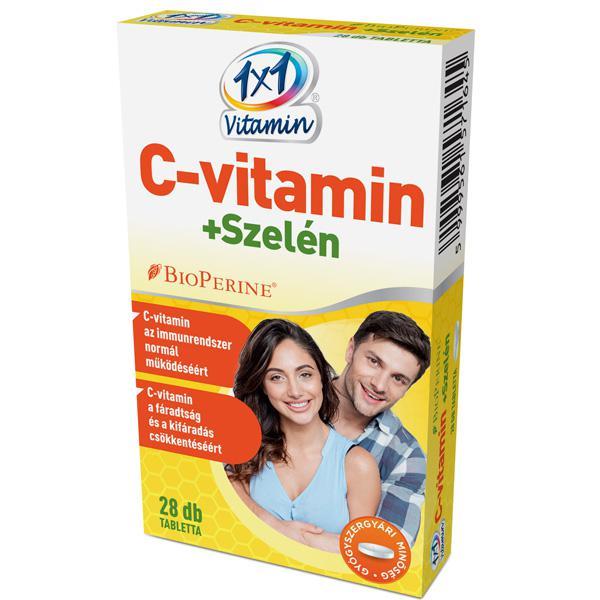 1×1 Vitamin C-vitamin + szelén BioPerinnel filmtabletta 28 szem