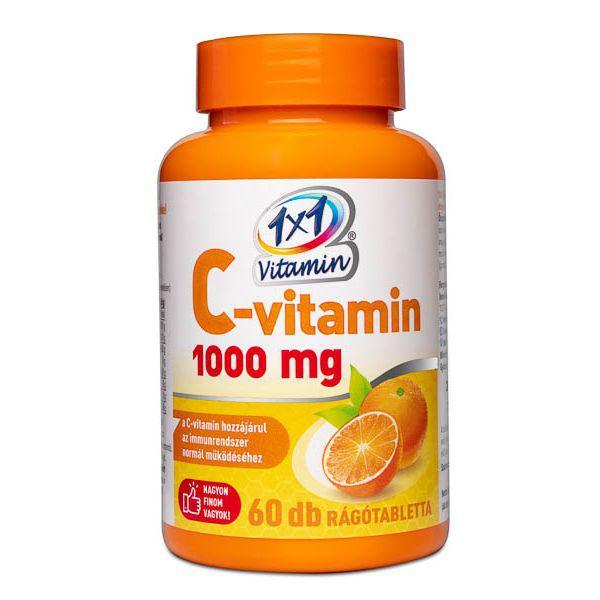 1×1 Vitamin C-vitamin 1000 mg rágótabletta 60 szem