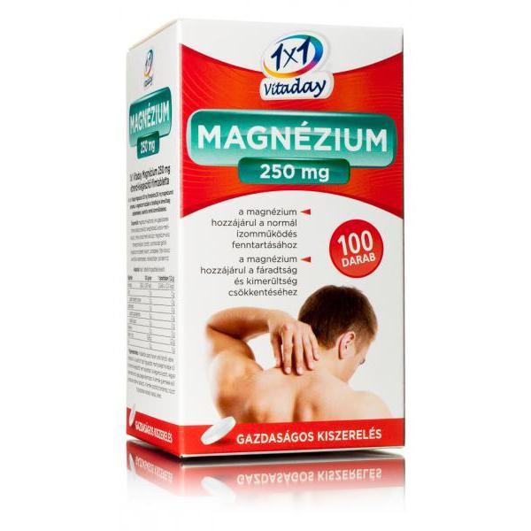 1×1 Vitamin Magnézium 250 mg filmtabletta 100 szem
