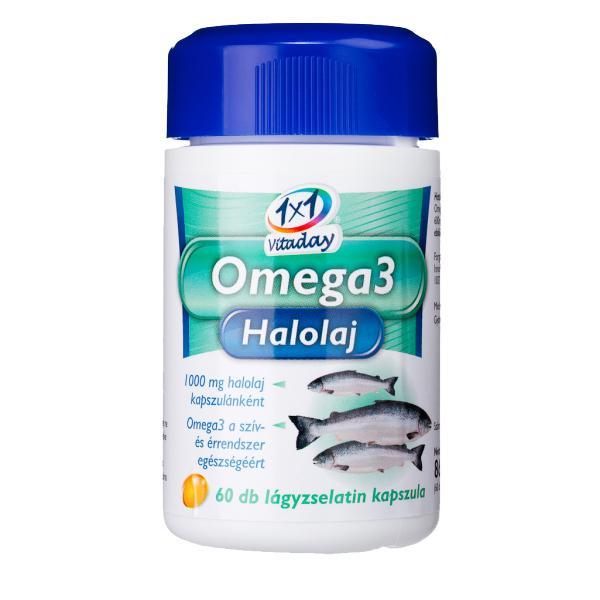 1×1 Vitamin Omega3 1000 mg halolaj lágyzselatin kapszula 60 szem