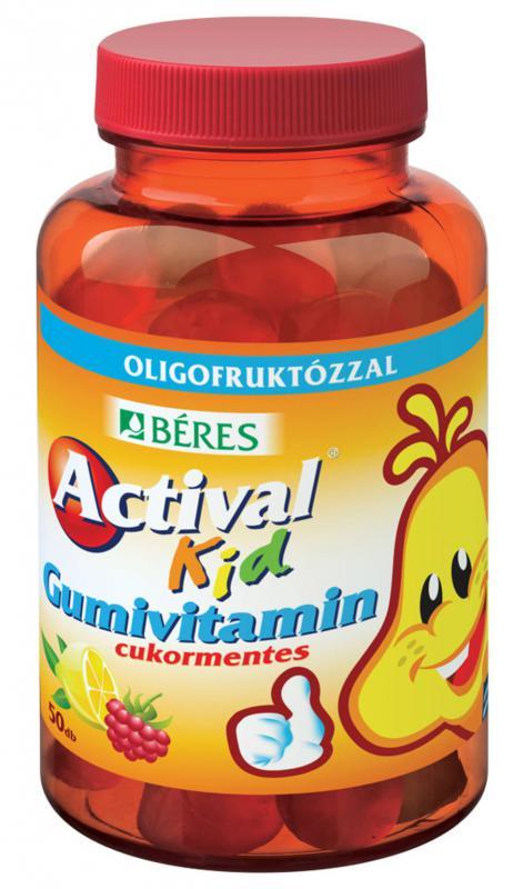 Béres Actival Kid gumivitamin cukormentes 50 szem