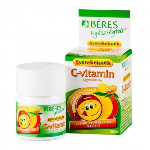 Béres Egészségtár C-Vitamin rágótabletta gyerekeknek 30 szem