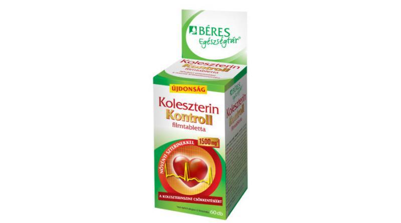 Béres Egészségtár Koleszterin Kontroll tabletta 60 szem