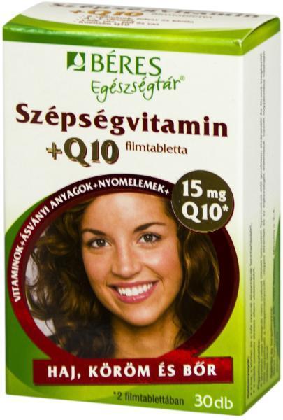 Béres Egészségtár Szépségvitamin Q10 filmtabletta 30 szem
