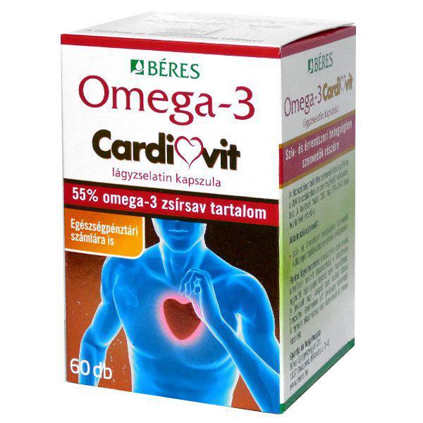 Béres Omega-3 Cardivit lágyzselatin kapszula 60szem