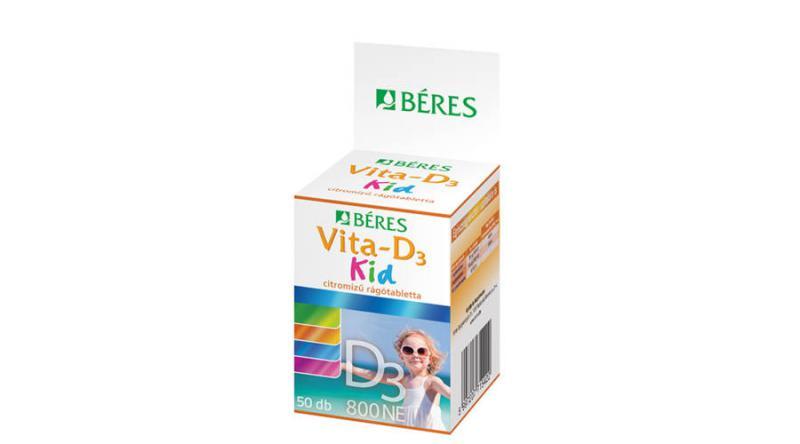 Béres Vita-D3 Kid 800NE rágótabletta 50 szem