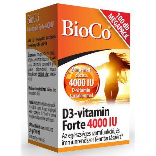 BioCo® D3-vitamin forte 4000 IU - 100 szem