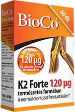 BioCo® K2 forte tabletta 120 mg  - 60 szem