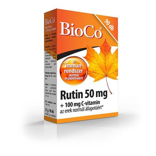 Bioco Rutin 50mg+100mg C-vit. 90szem