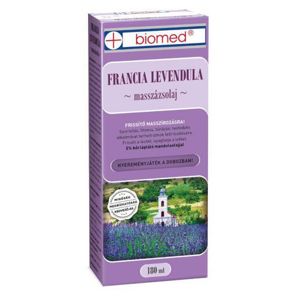 Biomed Francia Levendula masszázsolaj - 180 ml