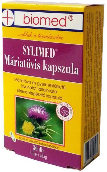 Biomed Sylimed Máriatövis kapszula - 30 szem
