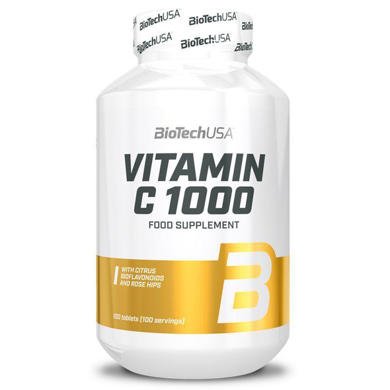 BioTechUSA C-vitamin 1000mg + Bioflavonoid tabletta - 100 szem