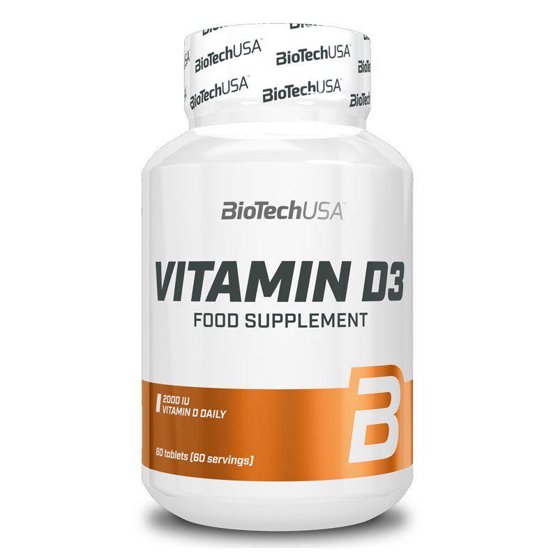BioTechUSA D3-vitamin 2000NE tabletta - 60 szem