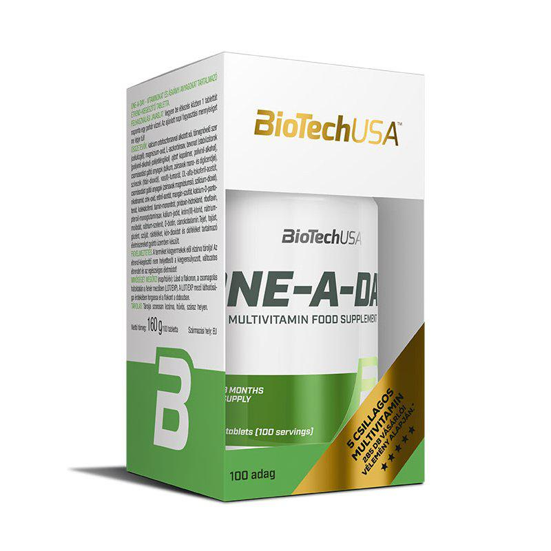 BioTechUSA One-A-Day multivitamin tabletta - 100 szem