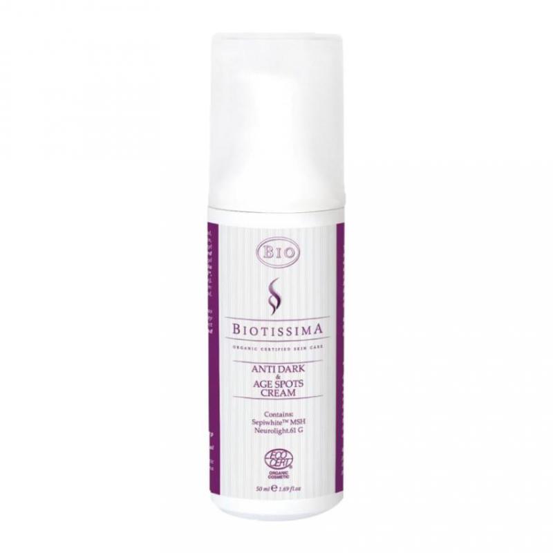 Biotissima® arckrém az öregségi foltok eltüntetésére – BIO minősítéssel  50 ml