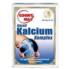 Csont-Max Korall Kalcium tabletta - 40db