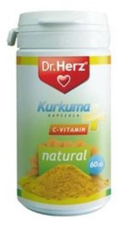 Dr Herz Kurkuma+C-vitamin - 60 szem