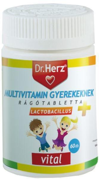 DR Herz Multivitamin Gyerekeknek+Lactobacillus 60 db tabletta