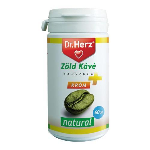 DR Herz Zöld Kávé + Króm + C-Vitamin kapszula - 60 db