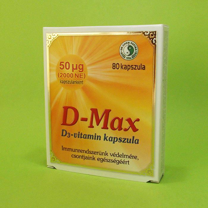 Dr.Chen D-Max kapszula - 80 szem